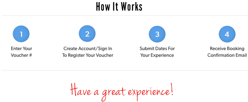 Register Your Voucher Experience Gifts  Gift Certificates Cloud