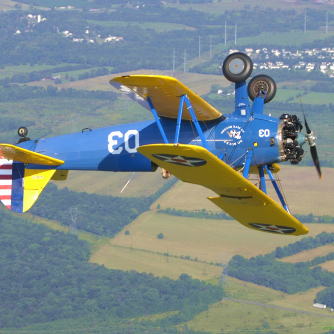 Aerobatic Thrill Ride in World War II Stearman Biplane