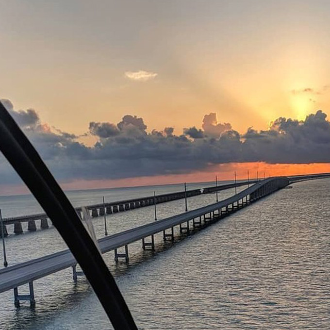 See Seven Mile Bridge from the Air from Key West, FL