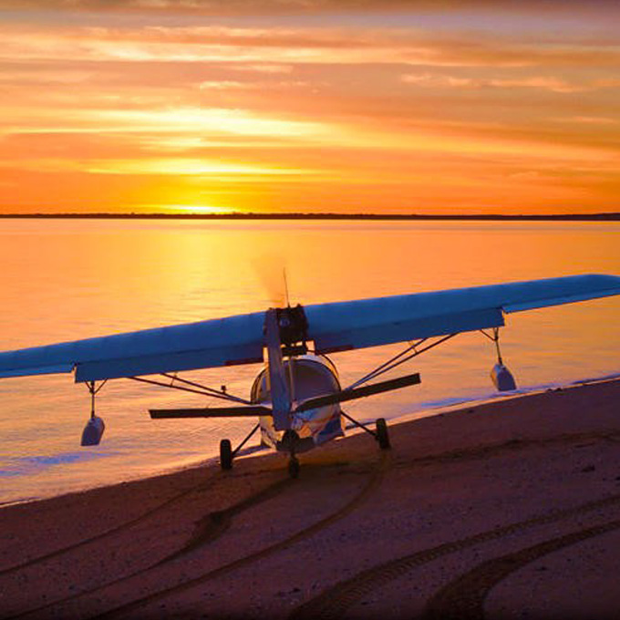 Sunset Flight Lesson in Tampa Bay