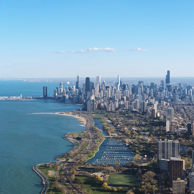 Views on the Chicago Helicopter Tour