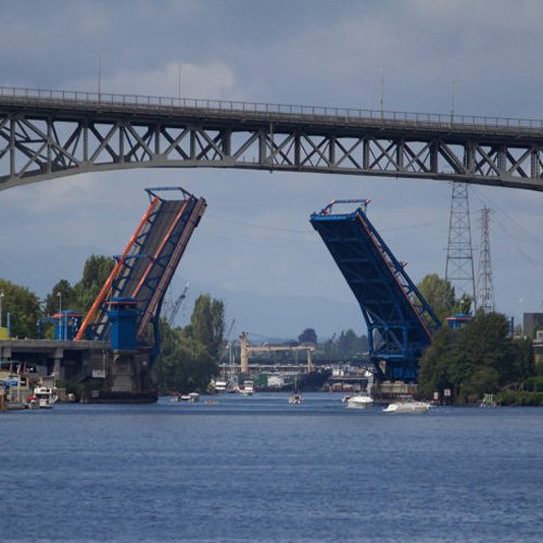 Fremont Bridge View During Wine Cruise in Seattle