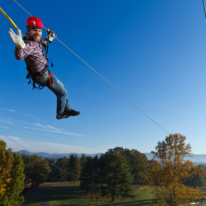 Guided Ziplining Canopy Tour in North Carolina