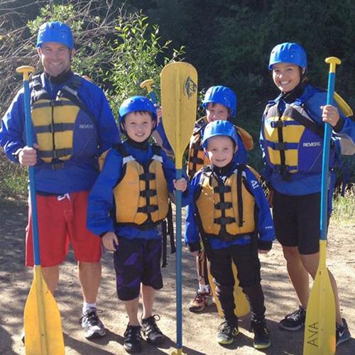 Beginner whitewater rafting