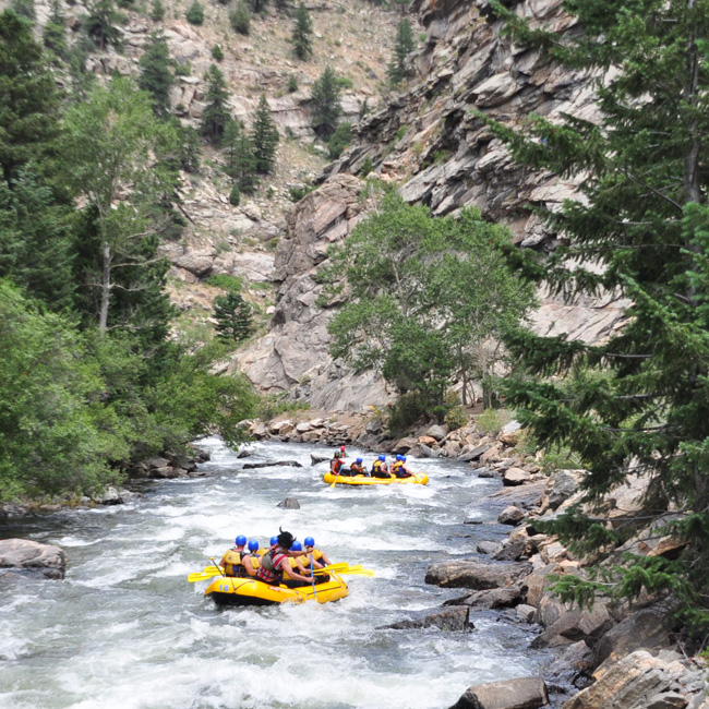 Rafting in Rocky Mountains