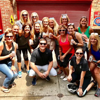 Excited Group on Beer and Comedy Tour of Chicago