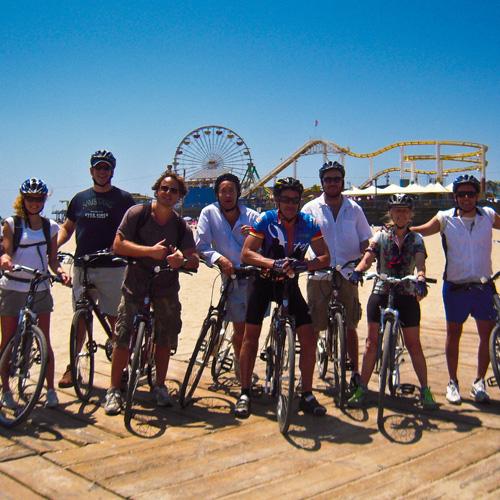 Biking tour near Santa Monica Pier