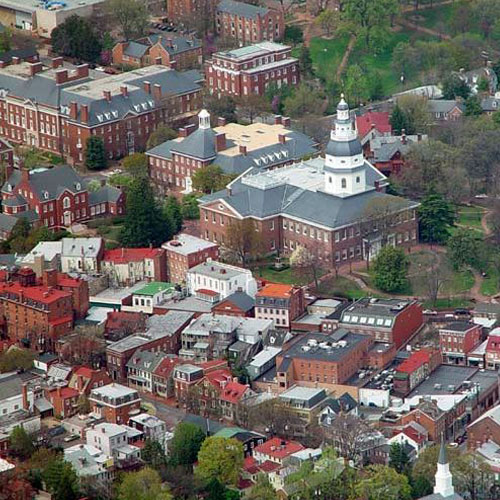 Scenic Flight in Annapolis above the Statehouse