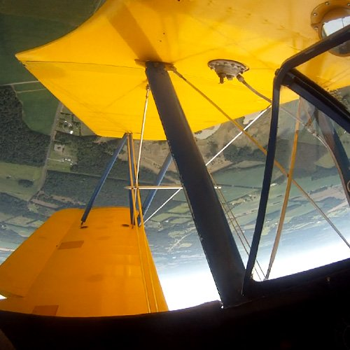 Sightseeing Flight in WWII Stearman Biplane