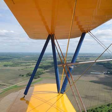 Scenic Views from Cannon Falls Biplane Ride