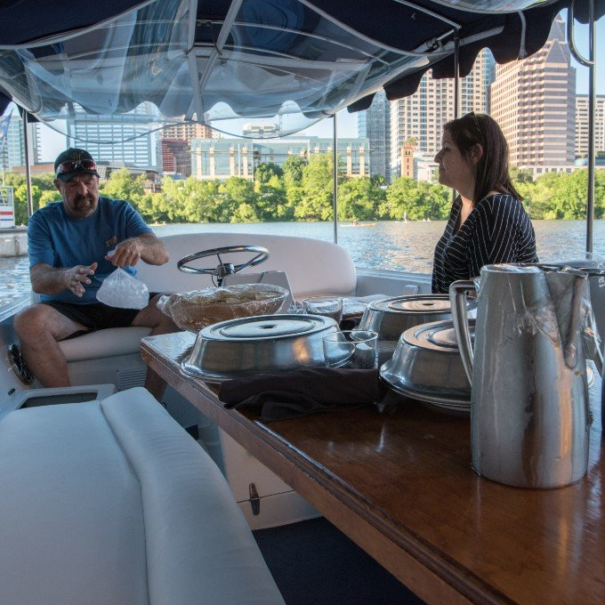 Gondola Electric Boat for Private Dinner Cruise in Austin, TX