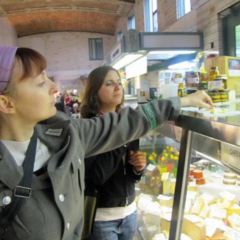food Tasting in West Side Market Cleveland