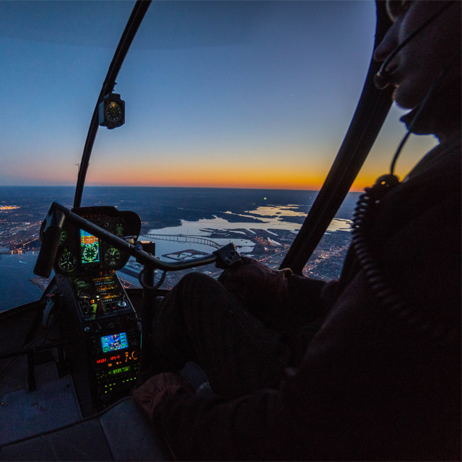 Sunset Views during New Orleans Helicopter Tour