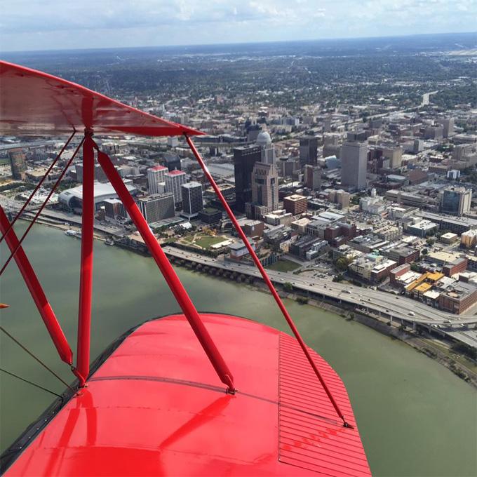 Biplane Flight Over Louisville