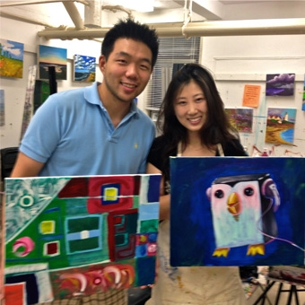 Couples Wine and Painting Class in New York
