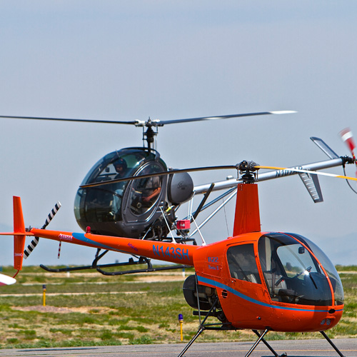Fly a Schweizer or Robinson Helicopter