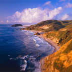 Fly over Big Sur California