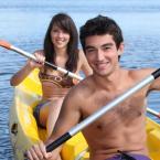 Couple Kayaking in Santa Barbara