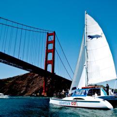 Golden Gate Bridge during San Francisco Catamaran Cruise