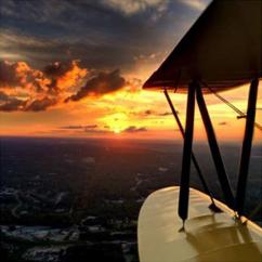 Biplane sunset flight in Atlanta