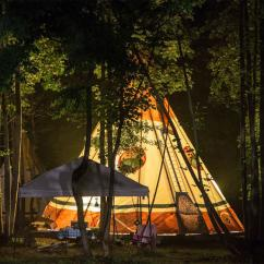 Spend The Night In A TeePee