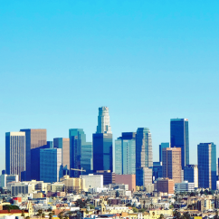 View LA from a Helicopter