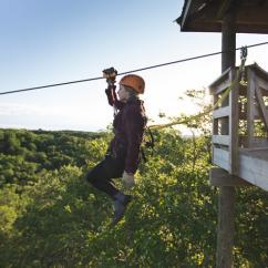 Ziplining near Minneapolis