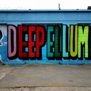 Painting During Walking Food Tour in Deep Ellum