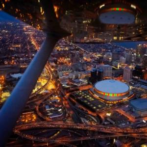 New Orleans After Dark Aerial Tour in New Orleans