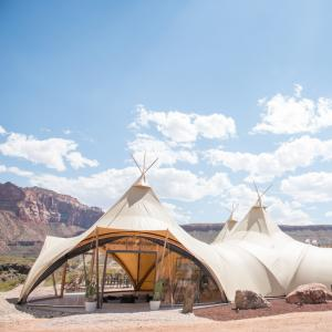 Lobby Tent at Zion Glampground