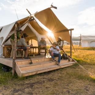 Deluxe Safari Tent near Yellowstone