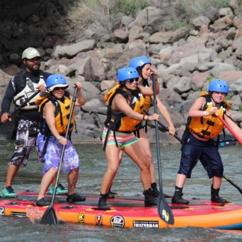 Paddleboarding on the Colorado River