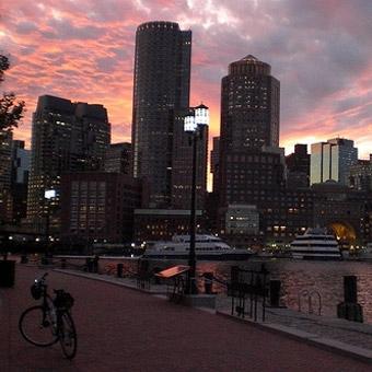 Boston Bikes at Night