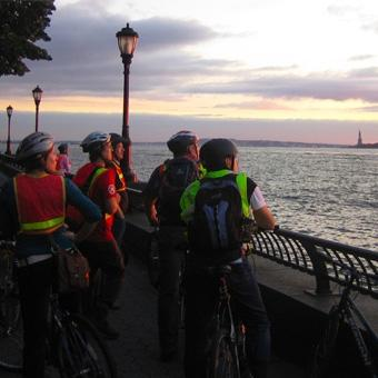 Friday Night Lights Bike Tour in New York