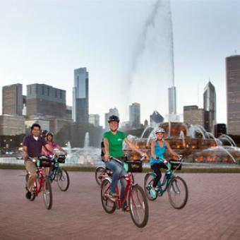 Buckingham Fountain Bike Tour Chicago