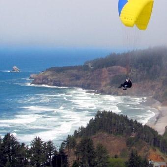 Tandem Paragliding in Tillamook outside of Portland