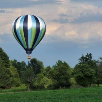 Beautiful Scenery During Hot Air Balloon Ride in New Jersey