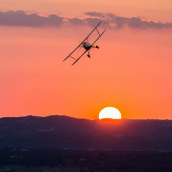 Sunset Scenic Flight in Austin