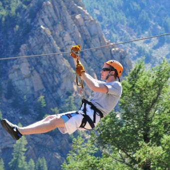 Zip line tour in Idaho Springs