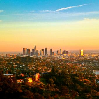 los angeles hollywood hills sunset hike at cloud 9 living