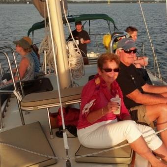 Enjoying a Sunset Sail on Chesapeake Bay