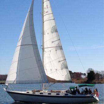 Sailboat Used During Sunset Sail on Chesapeake Bay