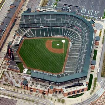 View of Camden Yards on Sightseeing Flight in Baltimore