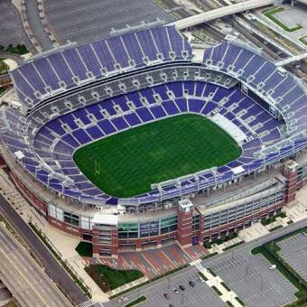 Baltimore Ravens Stadium on Plane Ride