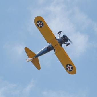 Stearman Biplane Flight
