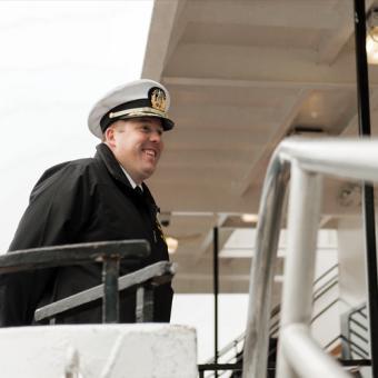 Captain on Philadelphia Lunch Cruise