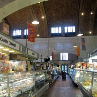 Inside West Side Market in Cleveland