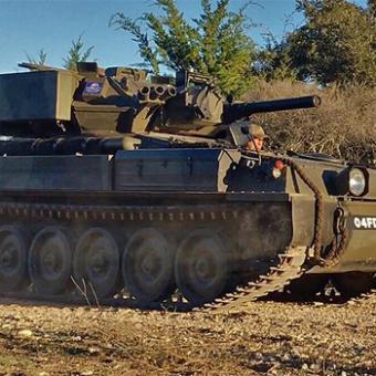 British Scorpion Tank Ride Along near San Antonio