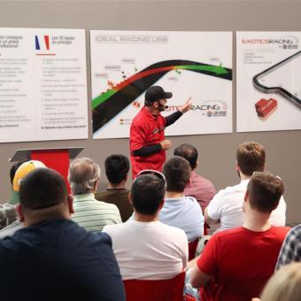 Clasroom when Racing a Ferrari
