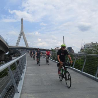 Cruising during Boston Bike Tour